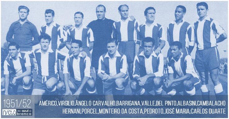 FC Porto - Plantéis de 1950 a 1959   Invicta de Azul e Branco